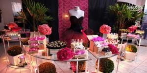 Festa pink com preto