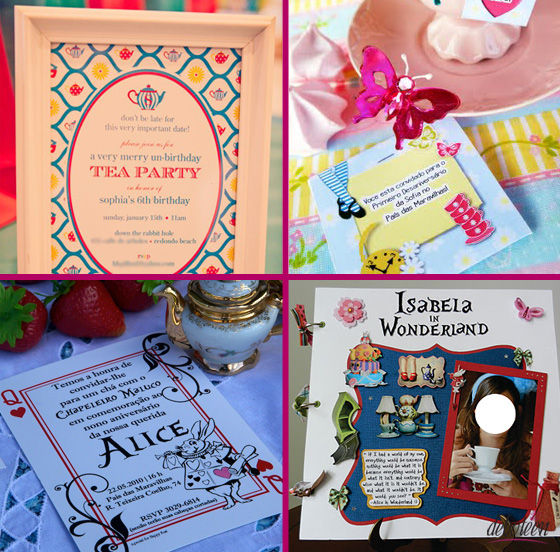 convites para Festa Alice no País das Maravilhas