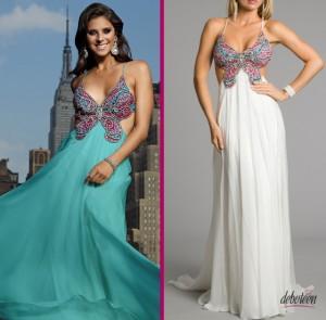 vestidos de borboleta