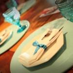 festa azul e marrom