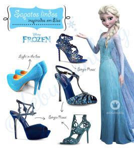 Sapatos lindos inspirados na Elsa de Frozen