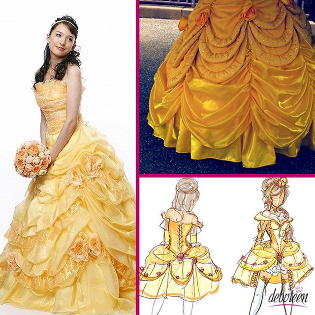 Vestida para festa tema A Bela e a Fera #bela #fera #temas #debuteenblog